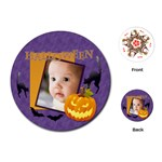halloween - Playing Cards (Round)