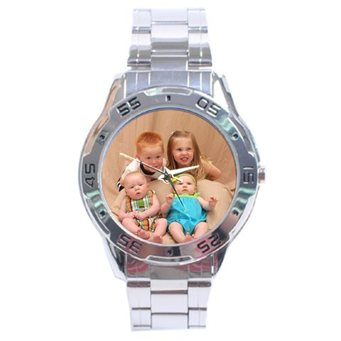 Grandpa s Watch By Sarah Pospisil   Stainless Steel Analogue Watch   Pnar0qy05cu6   Www Artscow Com Front