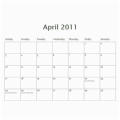 Our Calendar By Heidi Short   Wall Calendar 11  X 8 5  (12 Months)   8pc9j9xn7dlr   Www Artscow Com Apr 2011