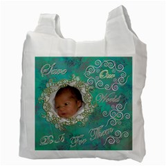 I Heart You This Much Aqua Double Recycle Bag 2 Sides By Ellan   Recycle Bag (two Side)   74n8o67z7ur3   Www Artscow Com Back