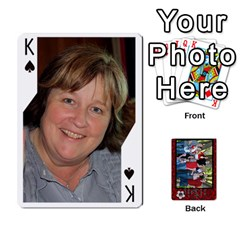 King Family Playing Cards By Shari   Playing Cards 54 Designs   5uykd8s4jhd9   Www Artscow Com Front - SpadeK
