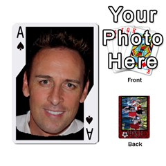 Ace Family Playing Cards By Shari   Playing Cards 54 Designs   5uykd8s4jhd9   Www Artscow Com Front - SpadeA