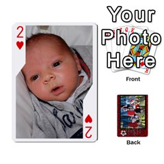 Family Playing Cards By Shari   Playing Cards 54 Designs   5uykd8s4jhd9   Www Artscow Com Front - Heart2