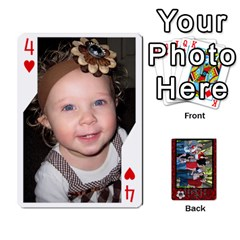 Family Playing Cards By Shari   Playing Cards 54 Designs   5uykd8s4jhd9   Www Artscow Com Front - Heart4