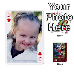 Family Playing Cards By Shari   Playing Cards 54 Designs   5uykd8s4jhd9   Www Artscow Com Front - Heart5