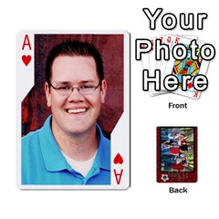 Ace Family Playing Cards By Shari   Playing Cards 54 Designs   5uykd8s4jhd9   Www Artscow Com Front - HeartA