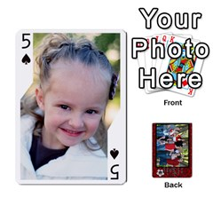 Family Playing Cards By Shari   Playing Cards 54 Designs   5uykd8s4jhd9   Www Artscow Com Front - Spade5