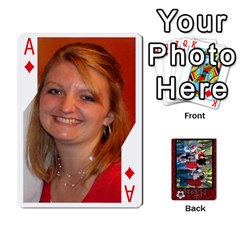 Ace Family Playing Cards By Shari   Playing Cards 54 Designs   5uykd8s4jhd9   Www Artscow Com Front - DiamondA