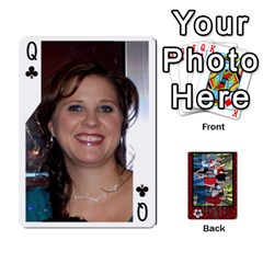 Queen Family Playing Cards By Shari   Playing Cards 54 Designs   5uykd8s4jhd9   Www Artscow Com Front - ClubQ