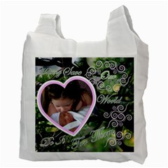 I Heart You This Much Love Birds Recycle Bag 2 Sides By Ellan   Recycle Bag (two Side)   2pg9irnp708e   Www Artscow Com Back