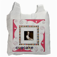 Cupcake Pinkalicious Recycle Bag By Catvinnat   Recycle Bag (two Side)   Uv07vxkp5ee6   Www Artscow Com Front