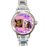 nina watch - Round Italian Charm Watch