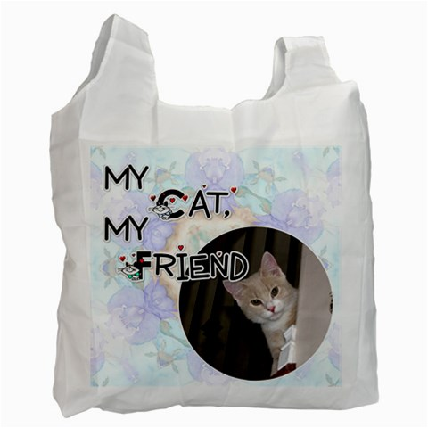 My Cat, My Friend Recycle Bag By Lil    Recycle Bag (one Side)   Zboeulbceozq   Www Artscow Com Front