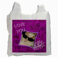 Love My Pet This Much Double Recycle Bag 2 Sides By Ellan   Recycle Bag (two Side)   4pav8i7rddjx   Www Artscow Com Front