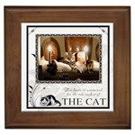 The Cat Framed Tile