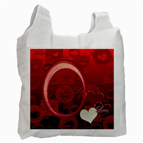 I Heart You 10 Love Pink Recycle Bag By Ellan   Recycle Bag (one Side)   X8haz59bgmmf   Www Artscow Com Front