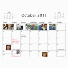 Calendar 2010 Cl By Erica   Wall Calendar 11  X 8 5  (12 Months)   Ekaot6gcz4pa   Www Artscow Com Oct 2011