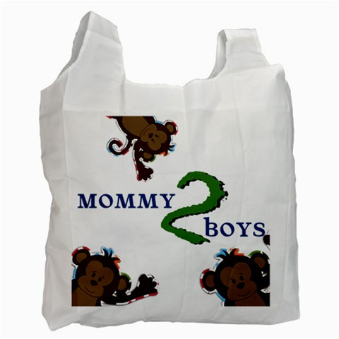 Mom To Boys By Brookieadkins Yahoo Com   Recycle Bag (one Side)   N3m9uqmbv10y   Www Artscow Com Front