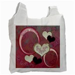 I Heart You moon 29 pink love recycle bag - Recycle Bag (One Side)