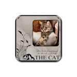 Cat Comfort Coaster - Rubber Coaster (Square)