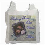 Helping Save Our World FOR THEM Blue recycle bag - Recycle Bag (One Side)