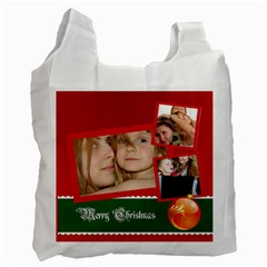 Christmas By Wood Johnson   Recycle Bag (two Side)   W9al4impae1b   Www Artscow Com Front