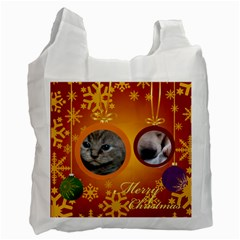 Christmas By Wood Johnson   Recycle Bag (two Side)   5zckthrutwx0   Www Artscow Com Front