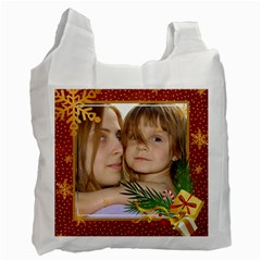 Christmas By Wood Johnson   Recycle Bag (two Side)   Htrh1c7bfmmb   Www Artscow Com Front