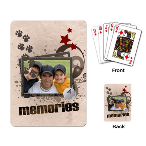 Memories Kits By Joely   Playing Cards Single Design   Cr23ooghxnt1   Www Artscow Com Back