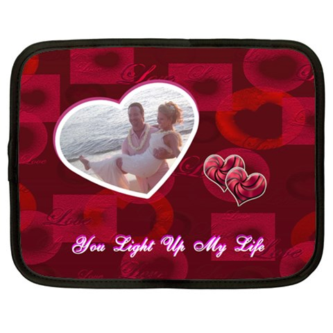 You Light Up My Life Heart 13 Inch (xl) Netbook Case By Ellan   Netbook Case (xl)   Gs30cvpwwmyl   Www Artscow Com Front