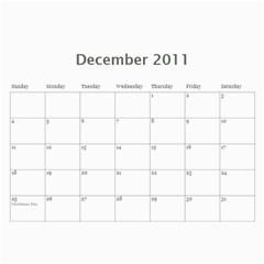 Calendar 2011 By Monica   Wall Calendar 11  X 8 5  (12 Months)   Horw44q11984   Www Artscow Com Dec 2011