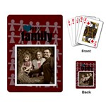My Family Cards red2 - Playing Cards Single Design