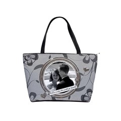 Love Makes The Word Go Round Shoulder Handbag By Lil    Classic Shoulder Handbag   I39cqck4c334   Www Artscow Com Front