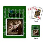 My Family Cards green - Playing Cards Single Design
