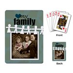 My Family Cards blue circle - Playing Cards Single Design