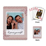 Express Yourself! Playing Cards - Playing Cards Single Design