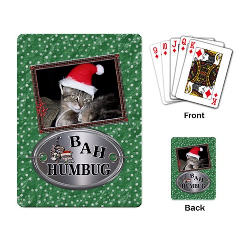 Bah Humbug Playing Cards By Lil    Playing Cards Single Design   Uc71qg91pl4d   Www Artscow Com Back