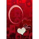 I Heart You red Love Personal Notebook - 5.5  x 8.5  Notebook