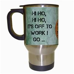Off To Work I Go Mug #2 By Lil    Travel Mug (white)   Cju52fjm89cd   Www Artscow Com Left