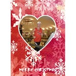 Ruby slippers snowflake Christmas Card - Greeting Card 5  x 7