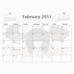 Naptural Roots 2011 Calendar By Leanne Dolce   Wall Calendar 11  X 8 5  (12 Months)   S1wxosl162hz   Www Artscow Com Feb 2011