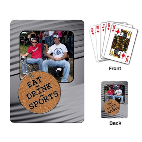 Eat, Drink, Sports Playing Cards By Lil    Playing Cards Single Design   X3ir780eaai4   Www Artscow Com Back