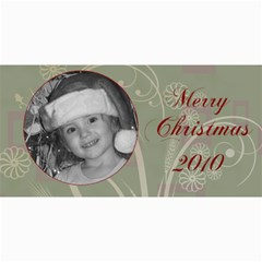 Merry Christmas Blue And Green By Amanda Bunn   4  X 8  Photo Cards   Z26ia66o2w90   Www Artscow Com 8 x4 Photo Card - 4