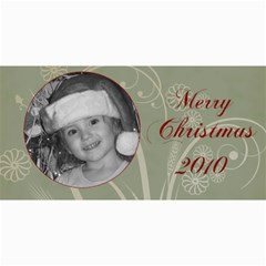 Merry Christmas Blue And Green By Amanda Bunn   4  X 8  Photo Cards   Z26ia66o2w90   Www Artscow Com 8 x4 Photo Card - 7