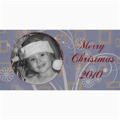 Merry Christmas Blue And Green By Amanda Bunn   4  X 8  Photo Cards   Z26ia66o2w90   Www Artscow Com 8 x4 Photo Card - 10