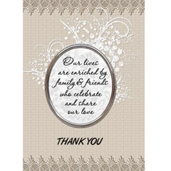 Wedding Thank You Card By Lil    Greeting Card 5  X 7    3gyl2v9jweo1   Www Artscow Com Front Cover