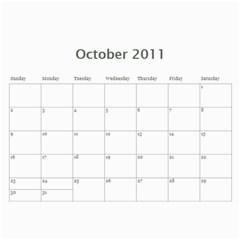 Calendario Gabriel By Thais   Wall Calendar 11  X 8 5  (12 Months)   Mw7zj3oklhvw   Www Artscow Com Oct 2011