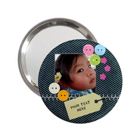 Denim Cuteness Compact Mirror By Purplekiss   2 25  Handbag Mirror   8jk58kzttt44   Www Artscow Com Front
