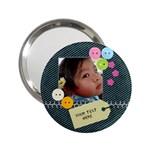 Denim Cuteness Compact Mirror - 2.25  Handbag Mirror