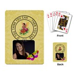 If You Think You Can ... Then You Can Playing Cards - Playing Cards Single Design